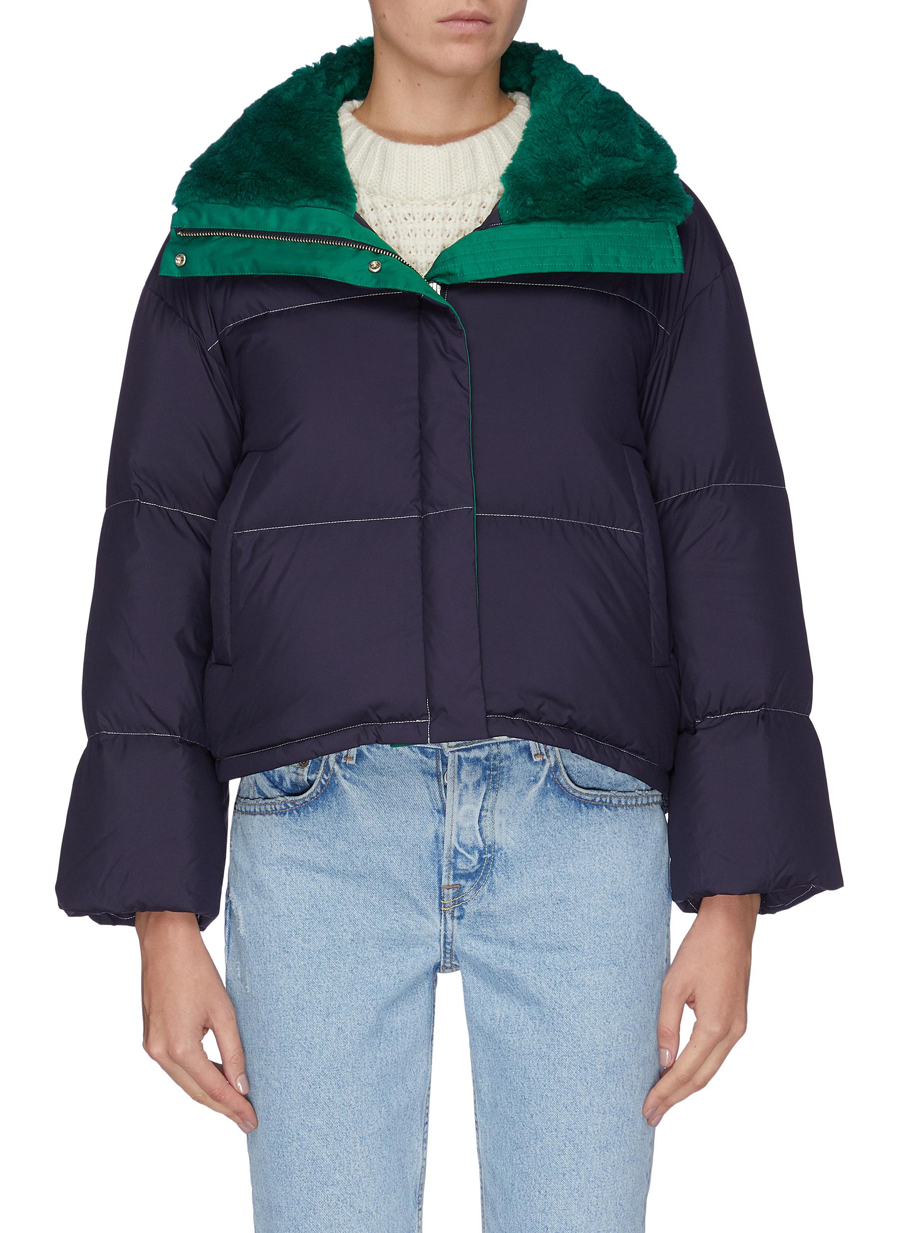 Contrast mohair lined quilted jacket by Short Sentence