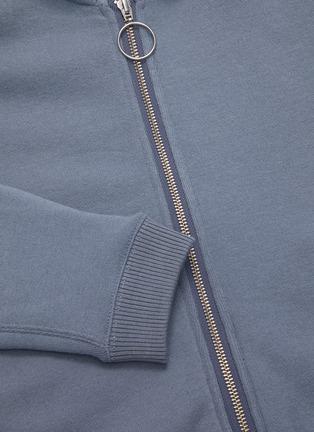 - SHORT SENTENCE - Ribbed sleeve panel zip hoodie