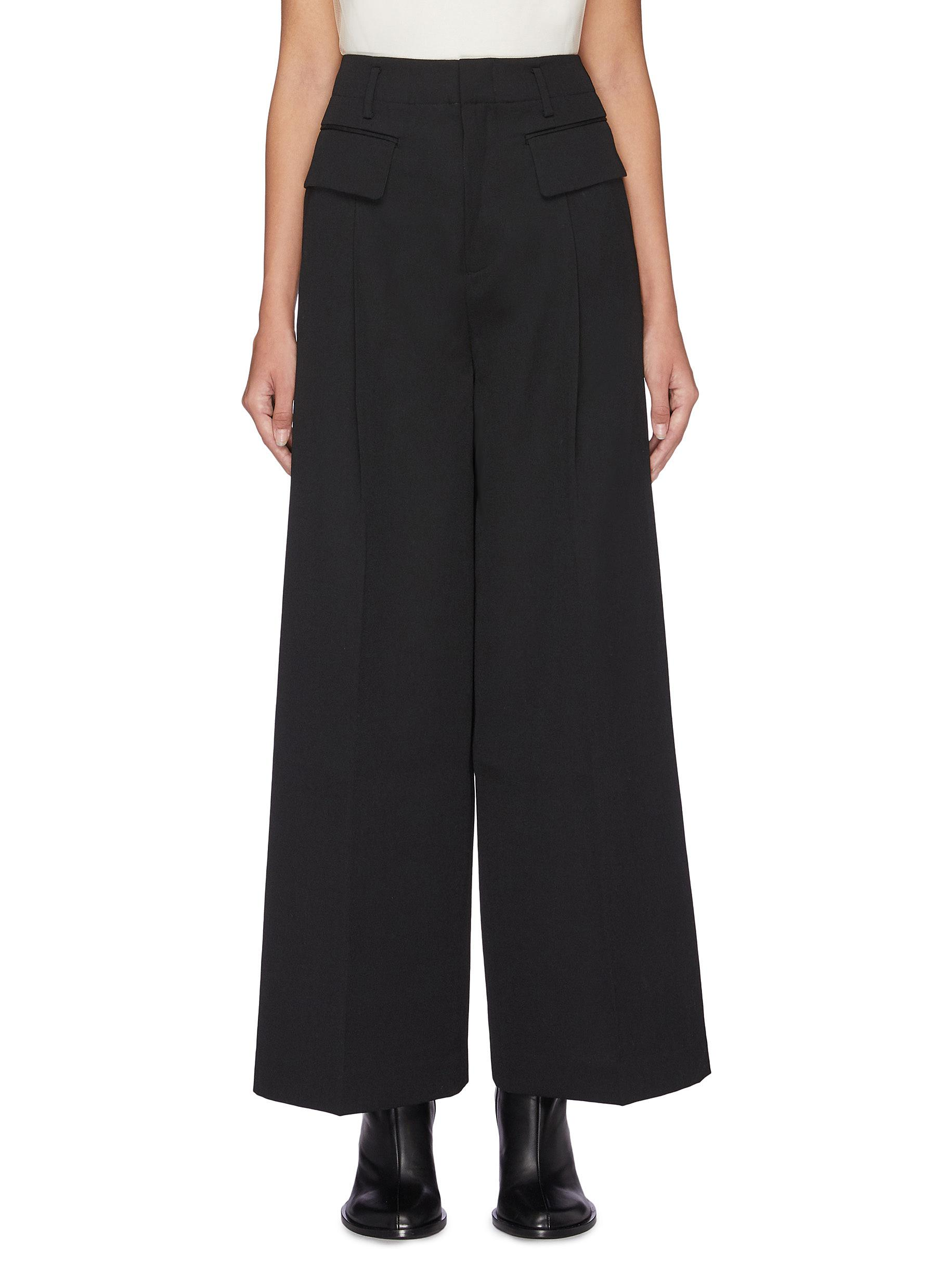 Flap pocket wide leg pants by Sans Titre