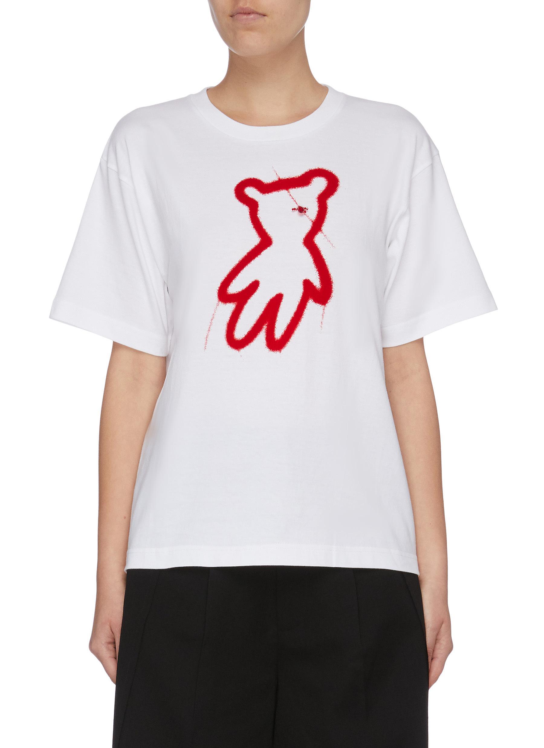 Bear print T-shirt by Shushu/Tong