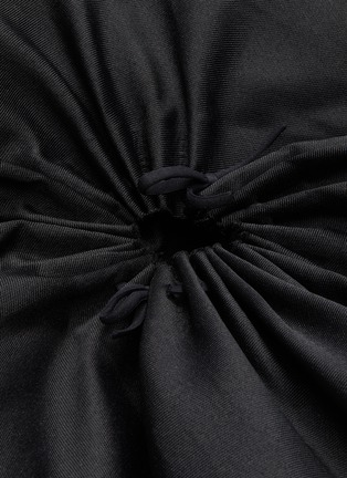 - SHUSHU/TONG - Detachable tulle underlay gathered ruffle dress