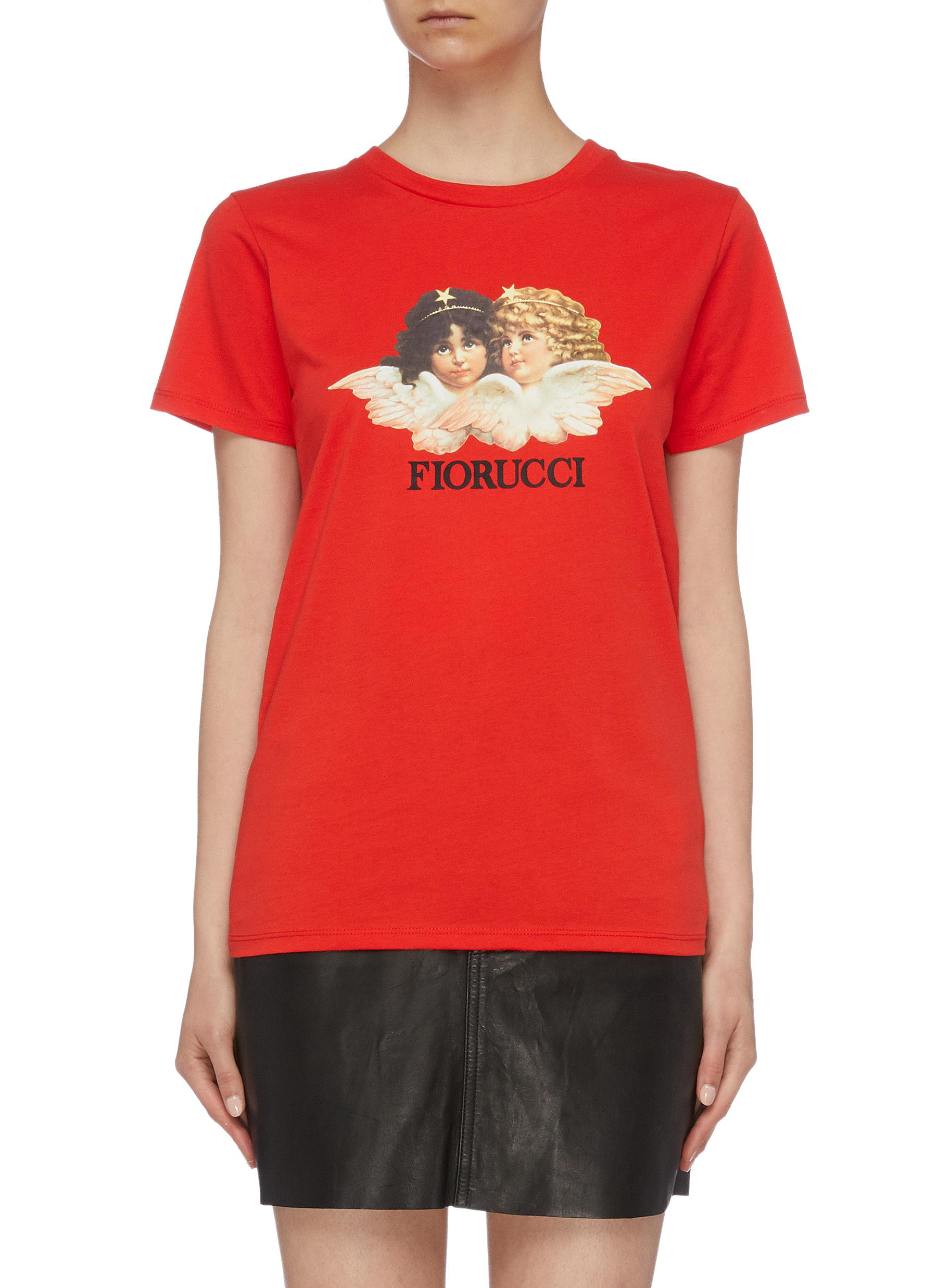 Angels graphic logo print T-shirt by Fiorucci
