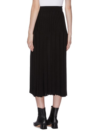 Back View - Click To Enlarge - CRUSH COLLECTION - Pleated silk-cashmere skirt