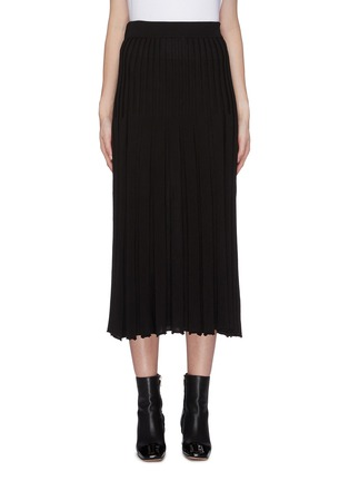 Main View - Click To Enlarge - CRUSH COLLECTION - Pleated silk-cashmere skirt