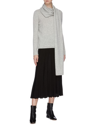 Figure View - Click To Enlarge - CRUSH COLLECTION - Pleated silk-cashmere skirt