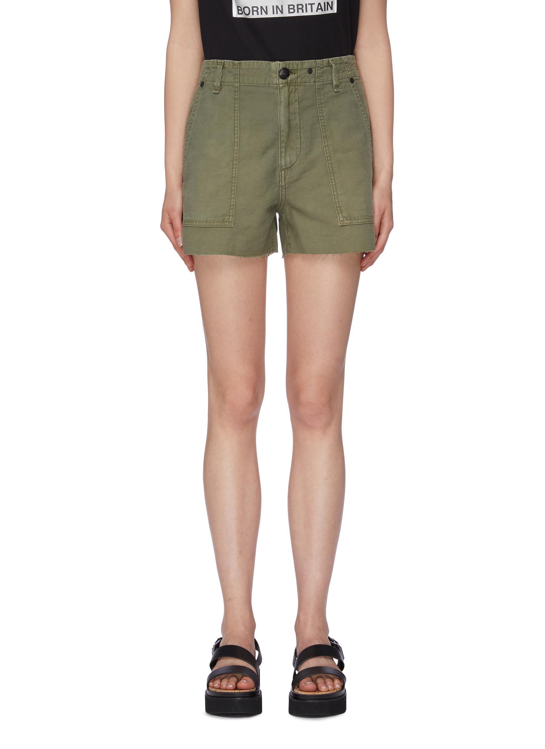 Kaye raw cuff twill shorts by Rag & Bone/Jean