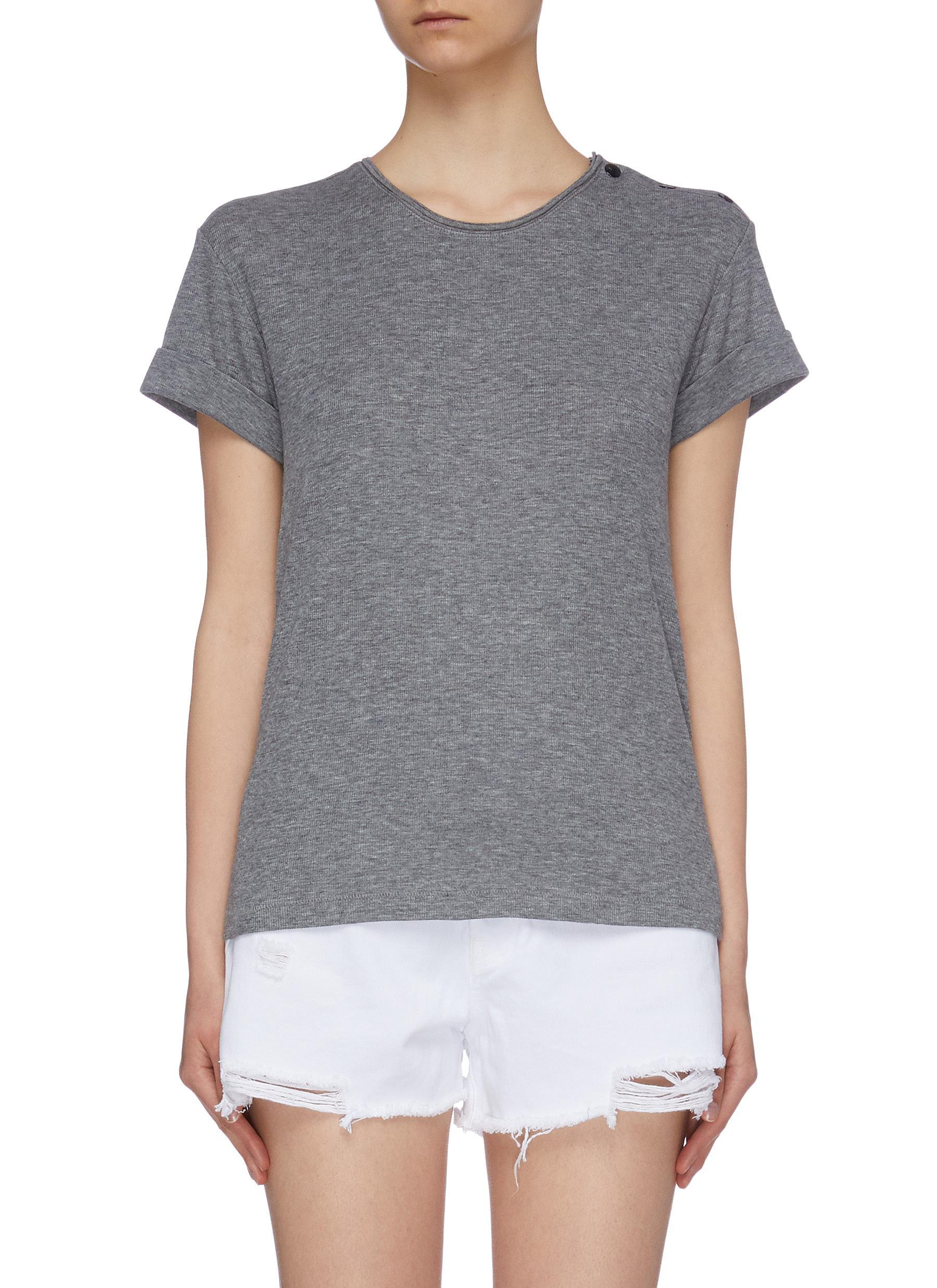 Mac button shoulder T-shirt by Rag & Bone/Jean
