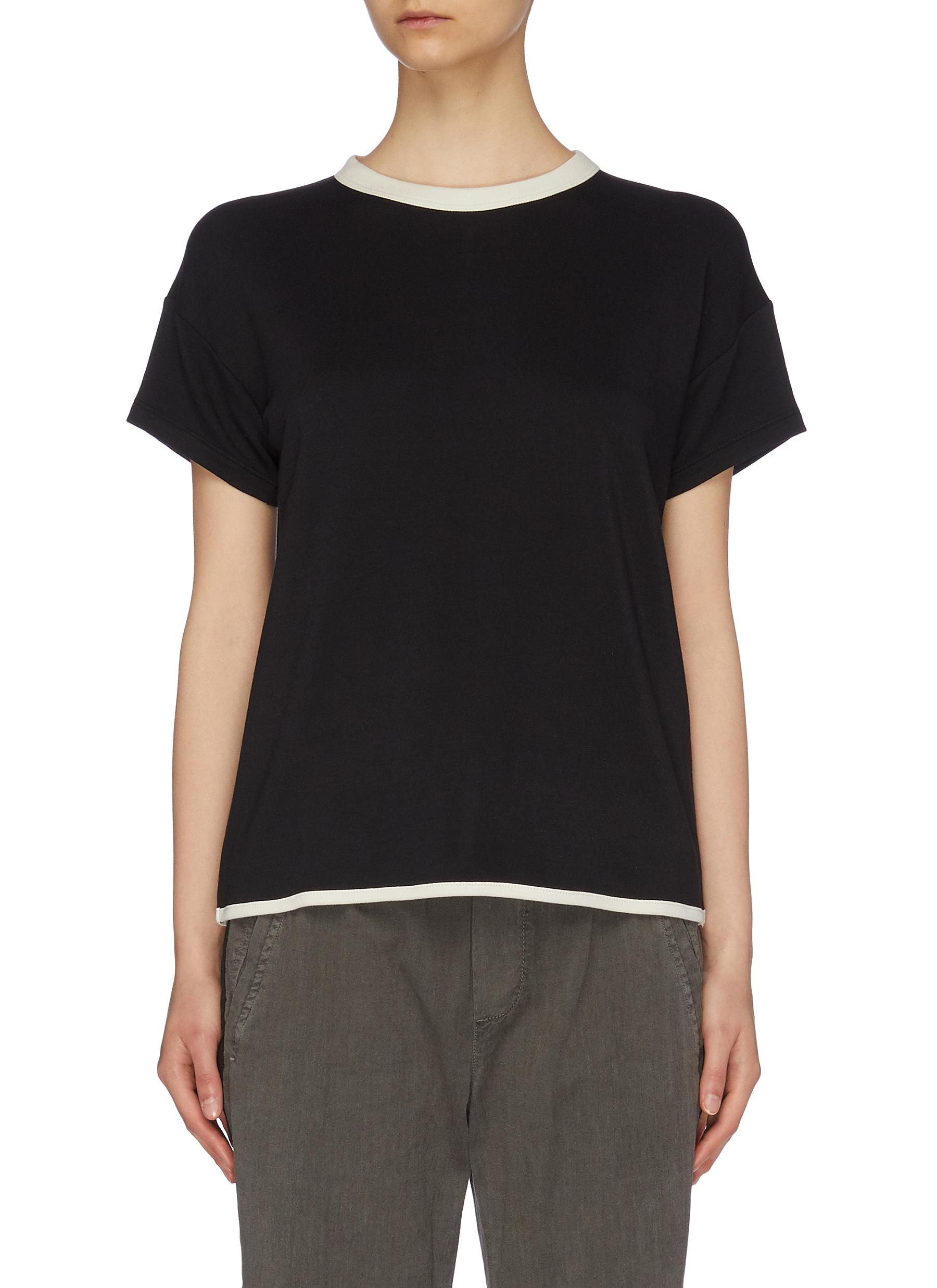 Coast contrast border T-shirt by Rag & Bone/Jean