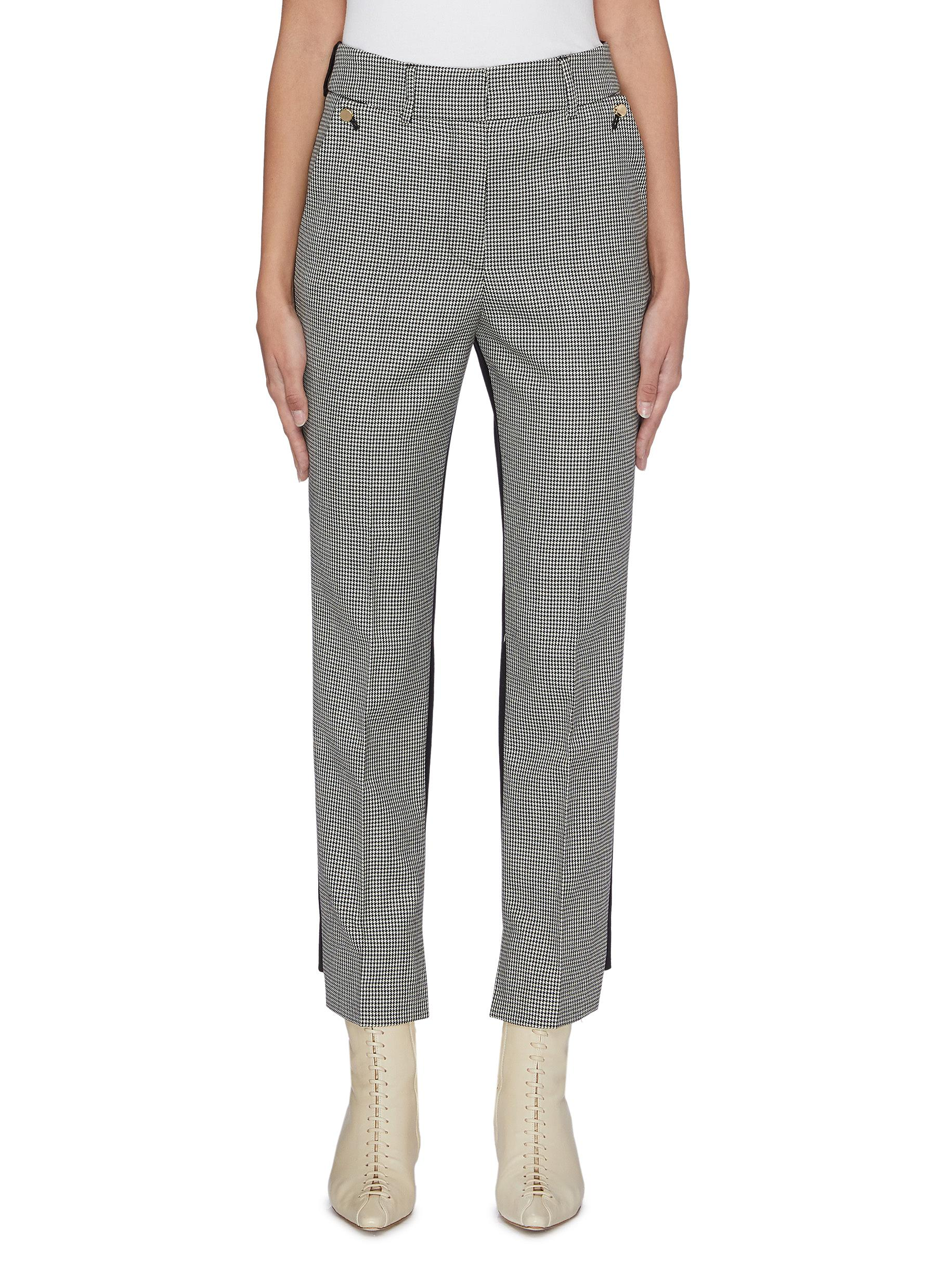 Helen contrast back houndstooth suiting pants by Petar Petrov