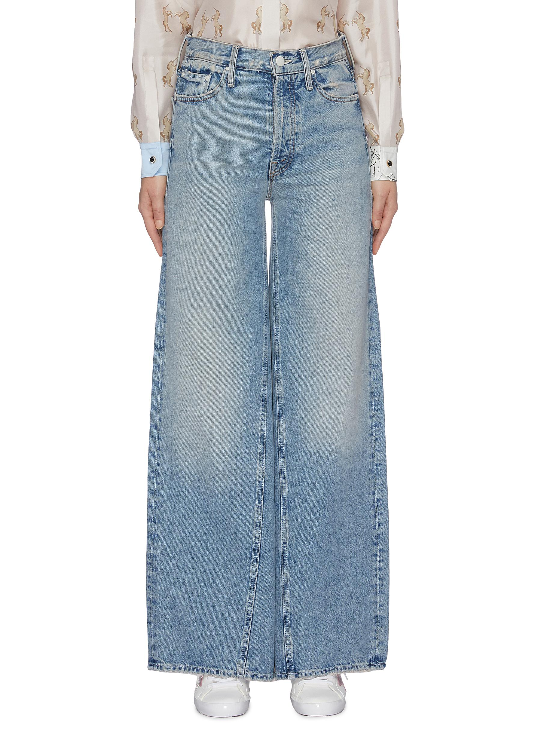 The Enchanter oversized wide leg jeans by Mother