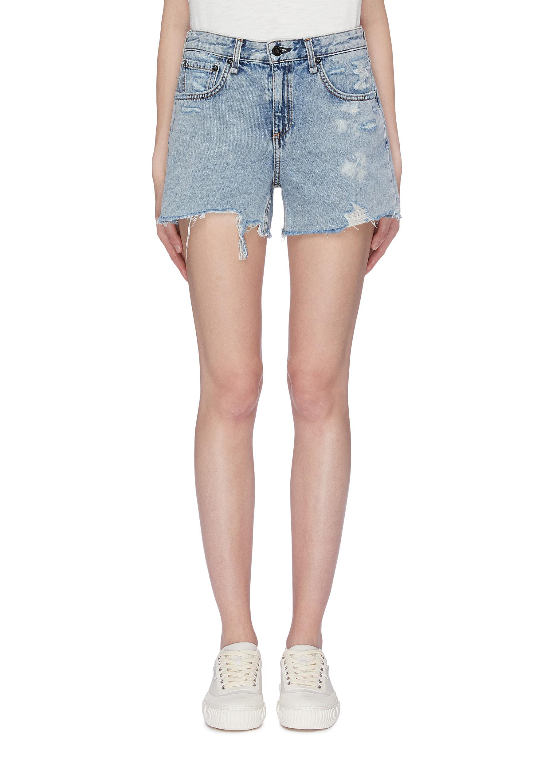 Dre distressed boyfriend denim shorts by Rag & Bone/Jean