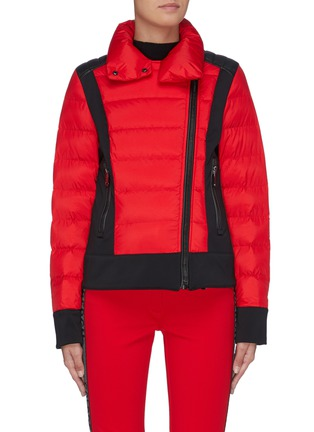 Main View - Click To Enlarge - GOLDBERGH - 'Tinna' wrapped neck colourblock performance down jacket