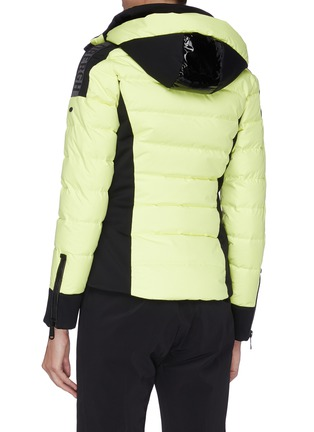 Back View - Click To Enlarge - GOLDBERGH - 'Almeta' zip cuff colourblock hooded down jacket