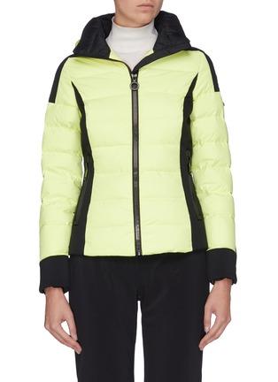Main View - Click To Enlarge - GOLDBERGH - 'Almeta' zip cuff colourblock hooded down jacket