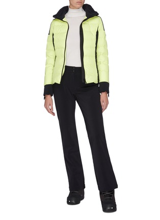 Figure View - Click To Enlarge - GOLDBERGH - 'Almeta' zip cuff colourblock hooded down jacket