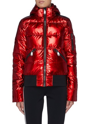 Main View - Click To Enlarge - GOLDBERGH - 'Aura' reflective hooded performance down jacket