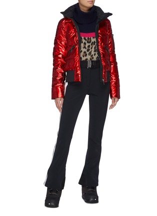 Figure View - Click To Enlarge - GOLDBERGH - 'Aura' reflective hooded performance down jacket