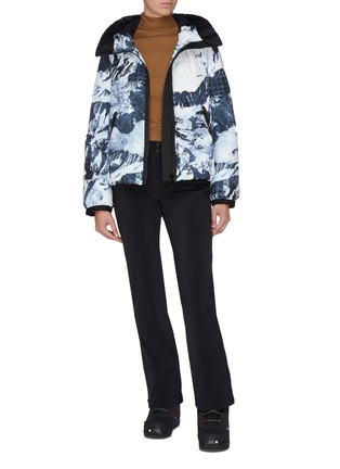 Figure View - Click To Enlarge - GOLDBERGH - 'Isflis' mix print down jacket