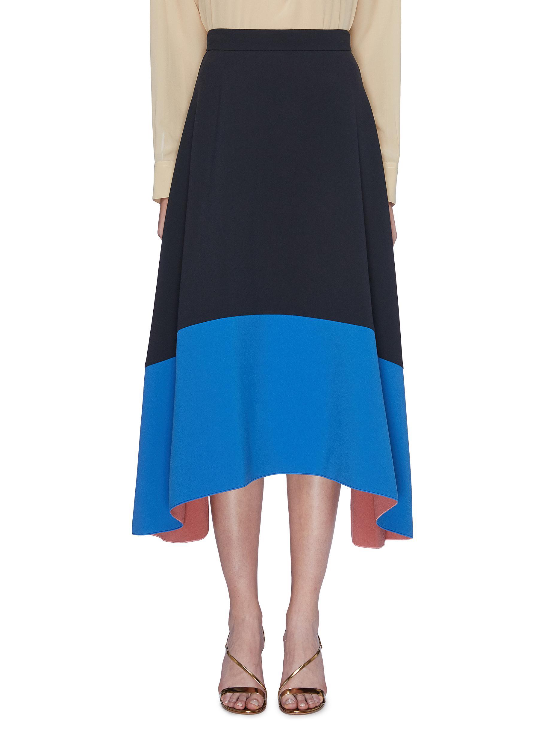 Oriana colourblock flared skirt by Roksanda