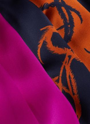- ROKSANDA - 'Teruko' bishop sleeve colourblock drape dress