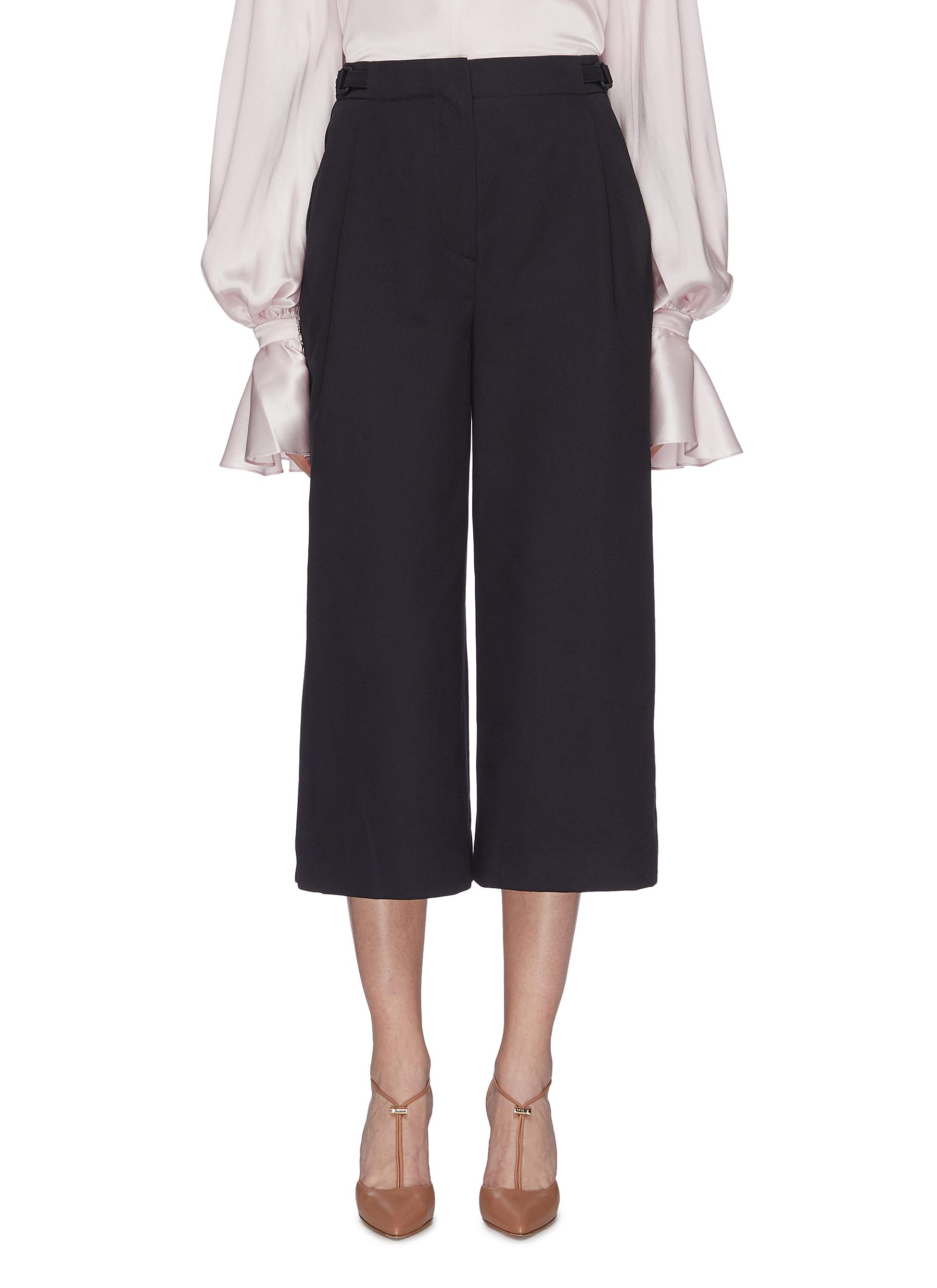 Elda contrast patch pocket suiting culottes by Roksanda