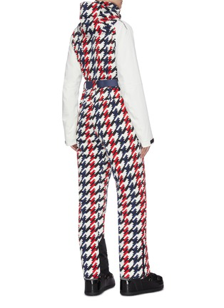 Back View - Click To Enlarge - PERFECT MOMENT - 'Chamonix' belted houndstooth print ski overalls