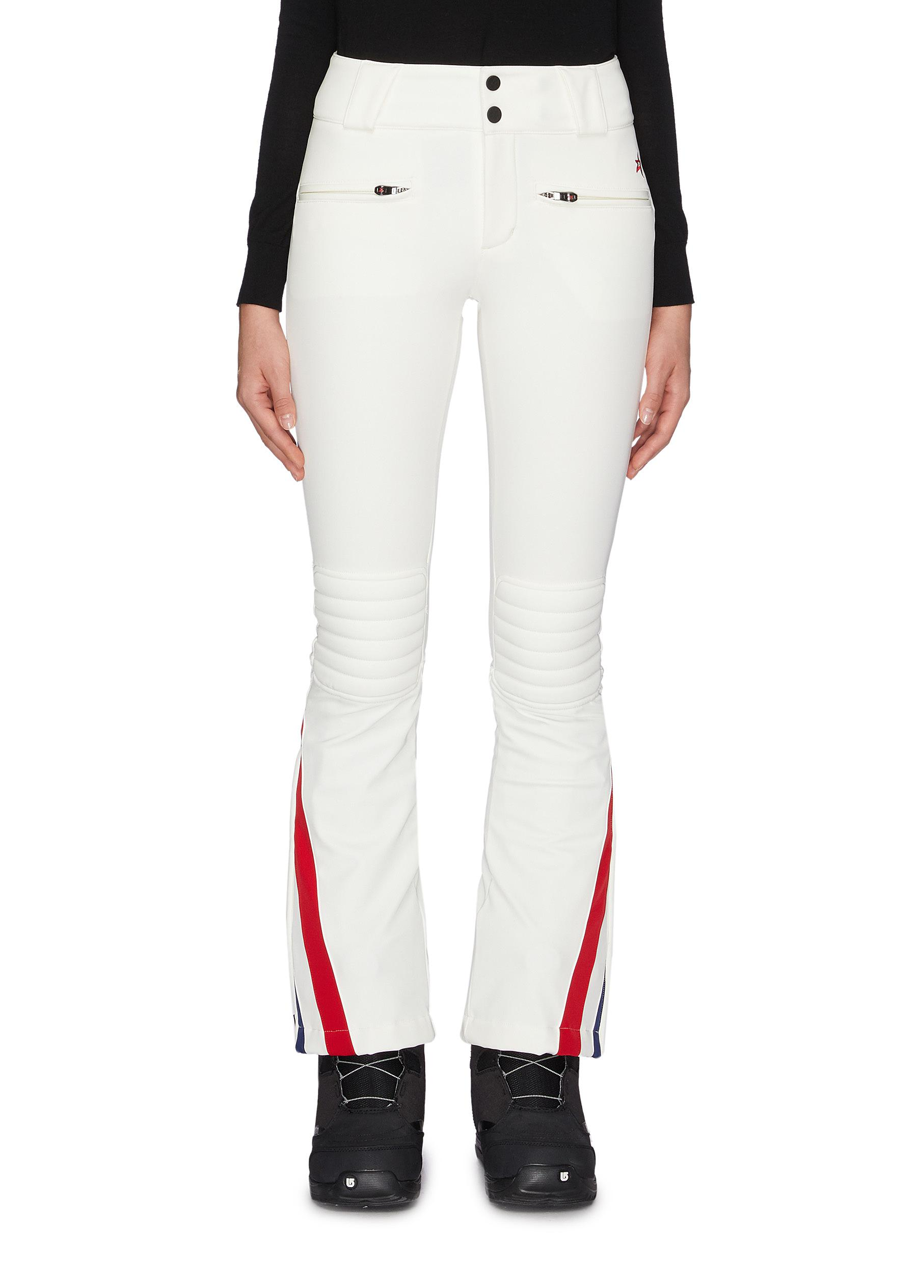shop Perfect Moment Zip chevron outseam padded knee flared pants online