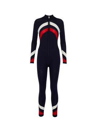 Main View - Click To Enlarge - PERFECT MOMENT - Chevron stripe ski overalls