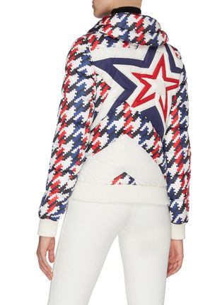 Back View - Click To Enlarge - PERFECT MOMENT - Colourblock star logo hooded jacket