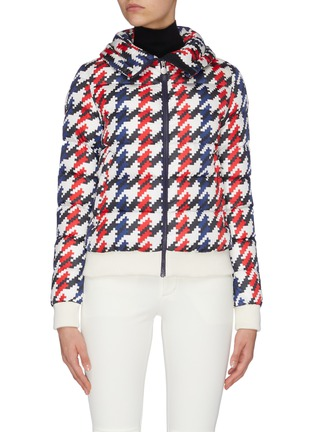 Main View - Click To Enlarge - PERFECT MOMENT - Colourblock star logo hooded jacket