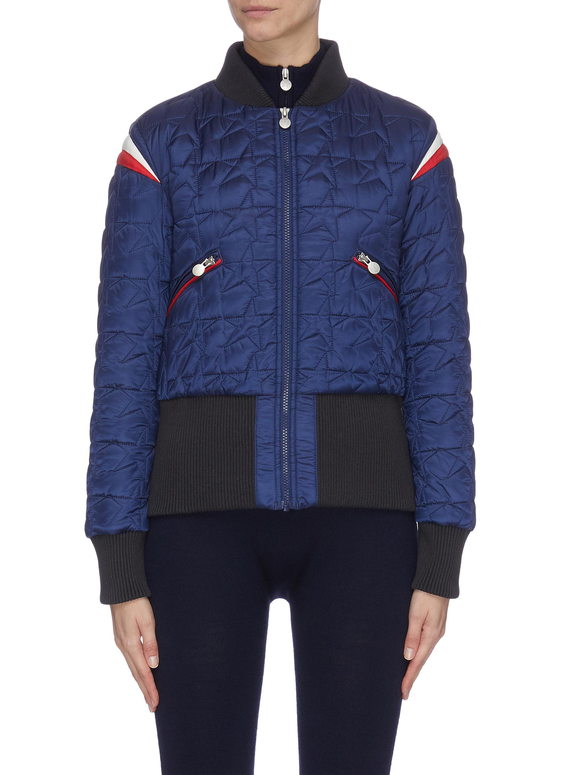 Buy Perfect Moment Jackets 'Glacier' star quilted contrast cuffs jacket