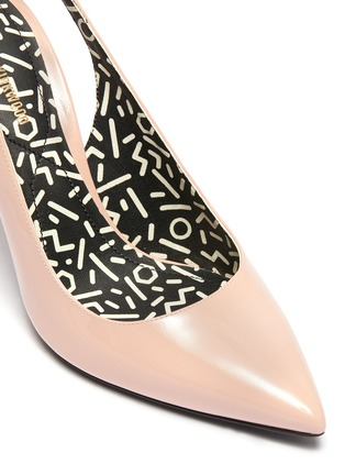 Detail View - Click To Enlarge - NICHOLAS KIRKWOOD - 'Mia' faux pearl patent leather slingback pumps