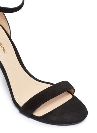 Detail View - Click To Enlarge - NICHOLAS KIRKWOOD - 'Maeva' glass crystal ball ankle strap suede sandals