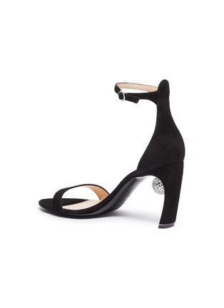 - NICHOLAS KIRKWOOD - 'Maeva' glass crystal ball ankle strap suede sandals