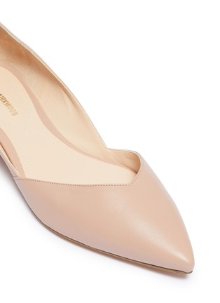 Detail View - Click To Enlarge - NICHOLAS KIRKWOOD - 'Suzi' faux pearl heel d'Orsay leather flats