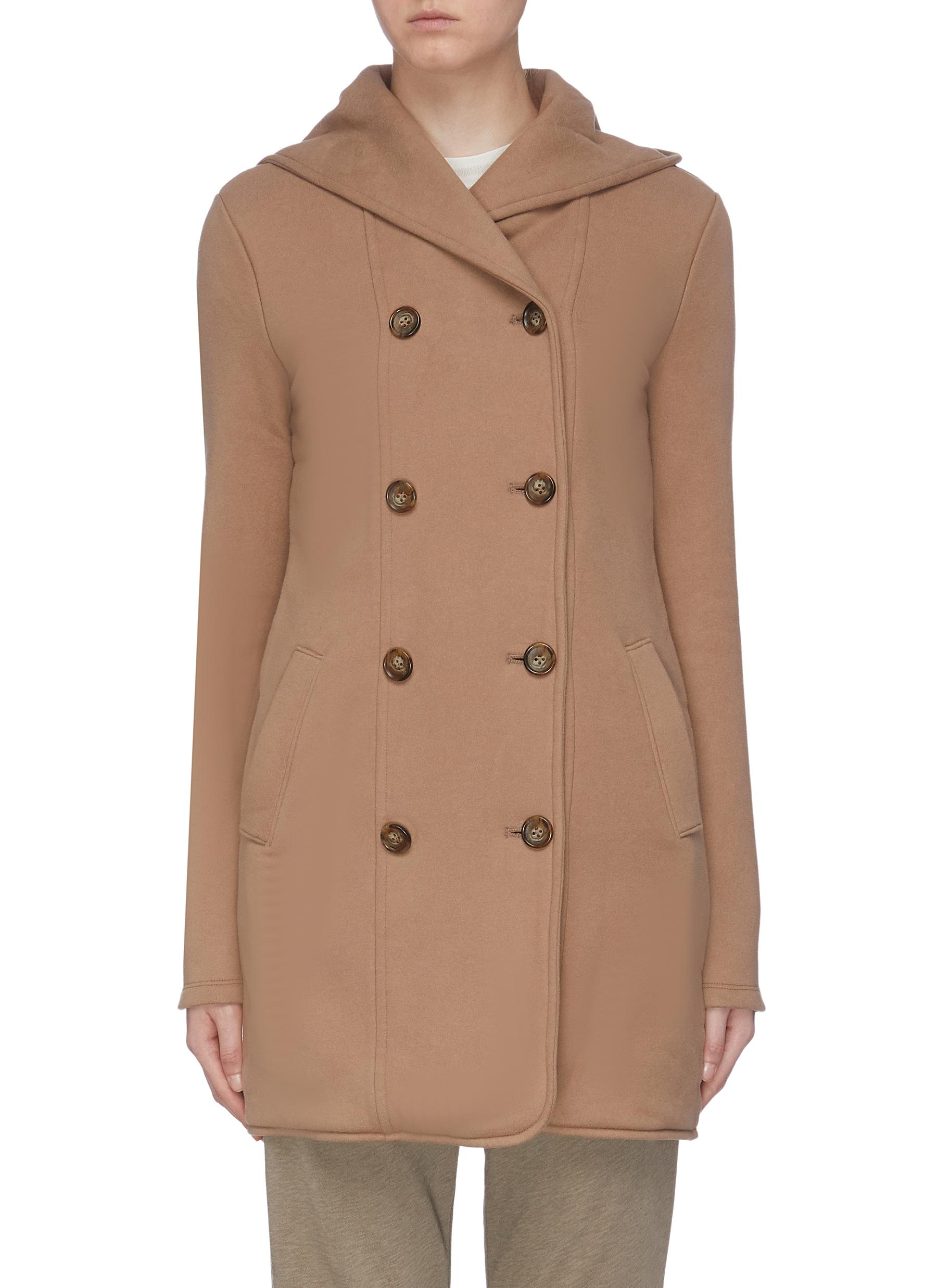 Double breasted hoodie coat by James Perse