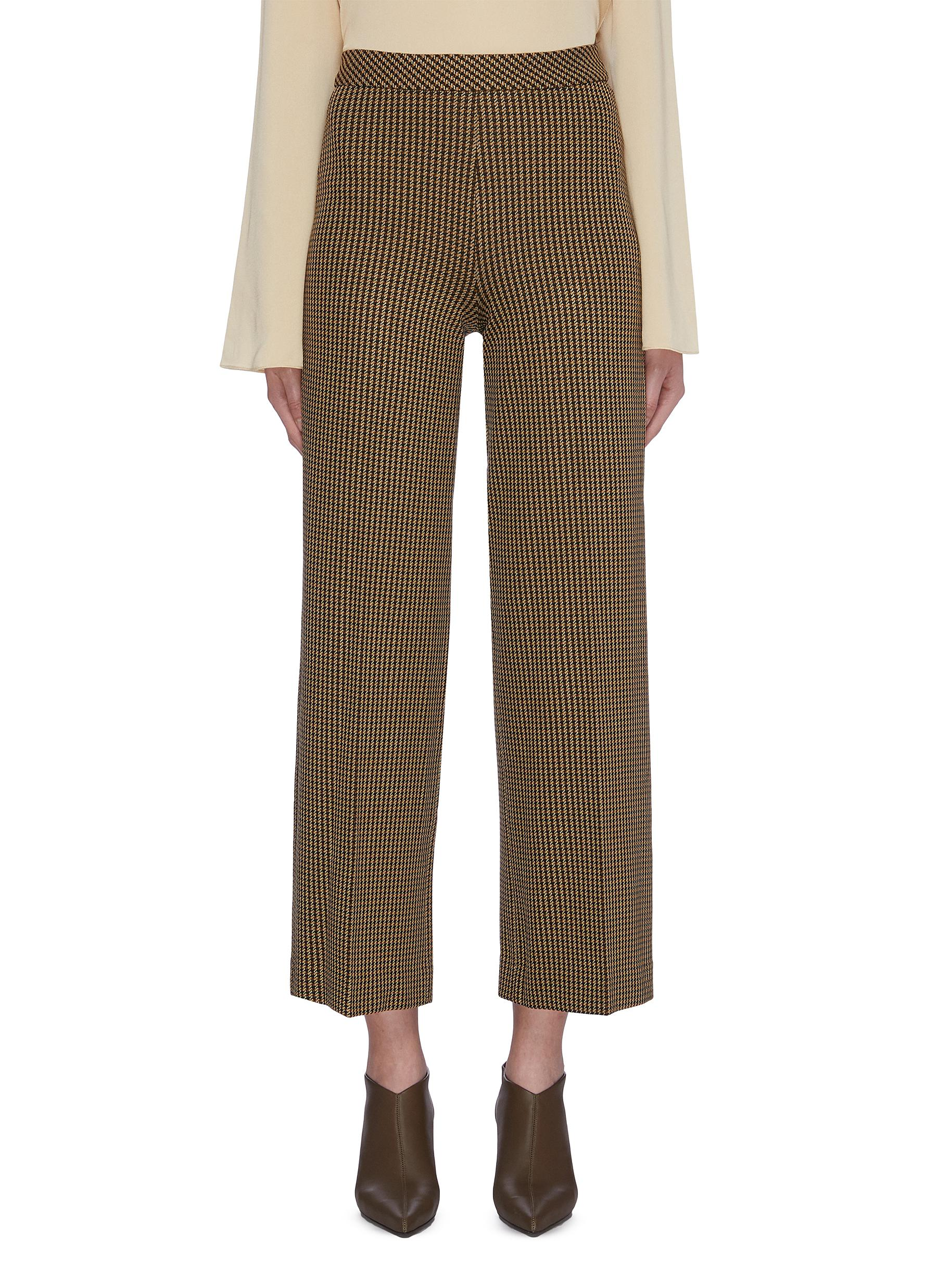 Check houndstooth straight leg pants by Rosetta Getty