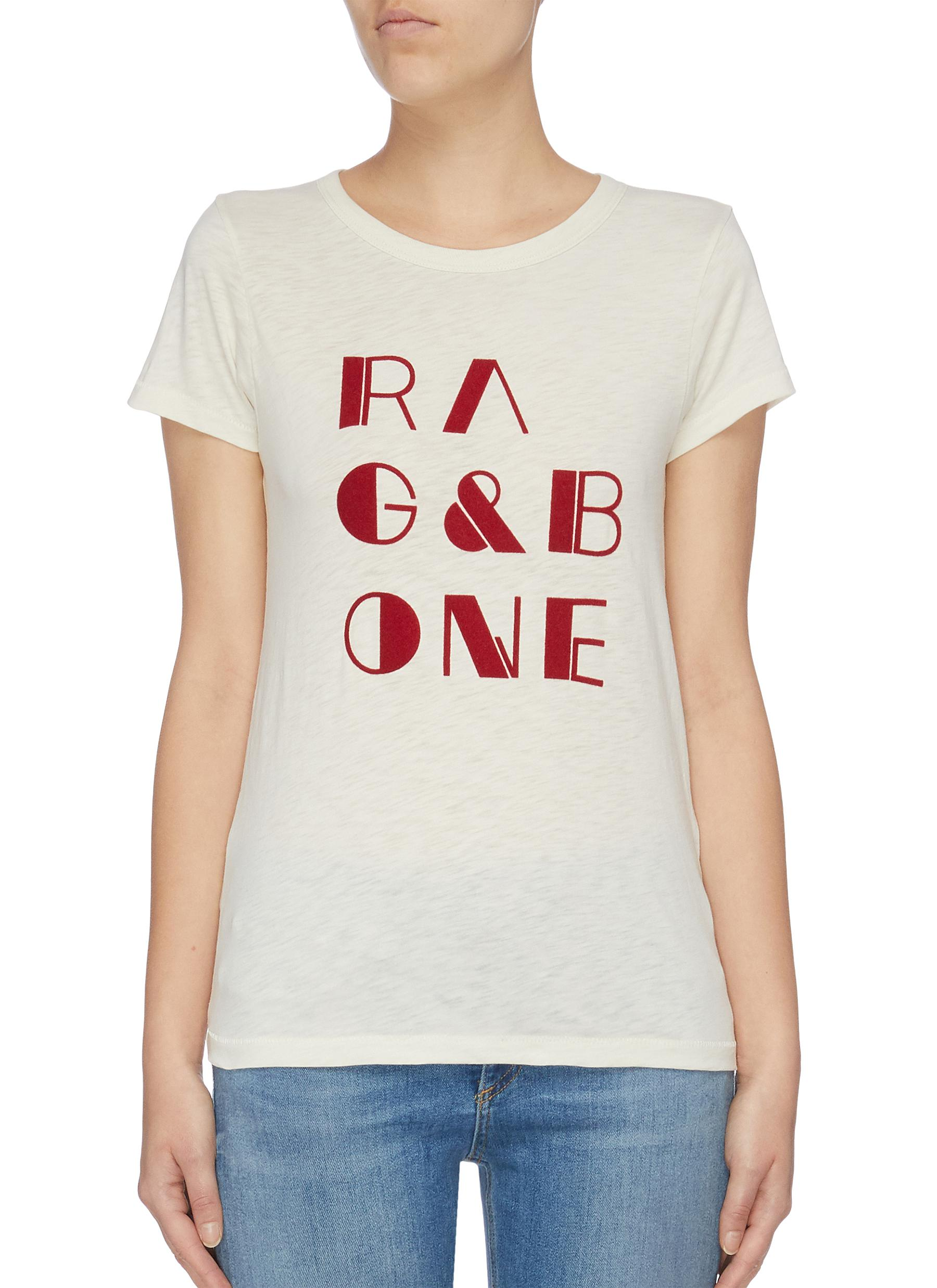 Rb Vintage logo print Pima cotton T-shirt by Rag & Bone/Jean