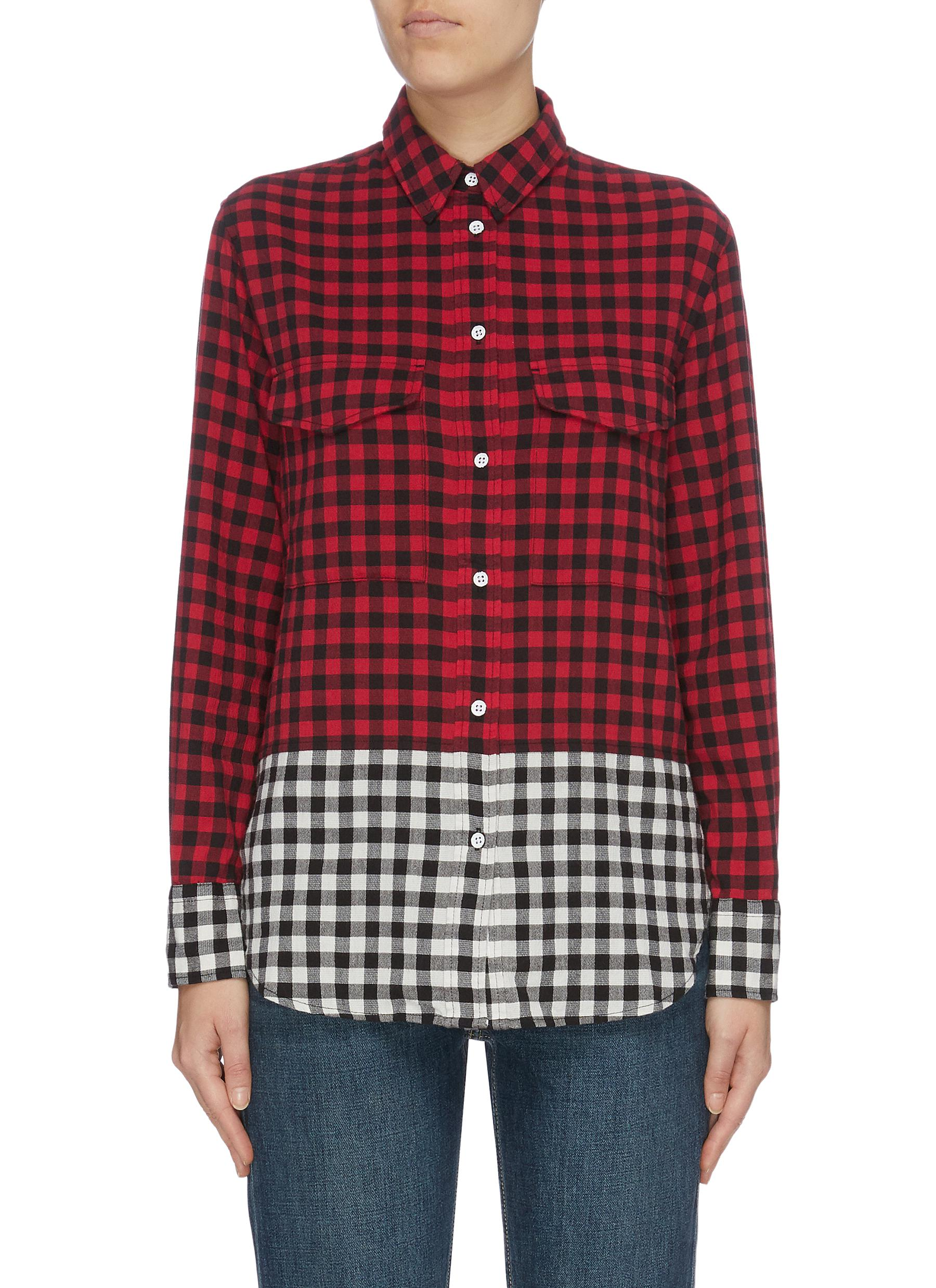 Birdie check plaid oversized shirt by Rag & Bone/Jean