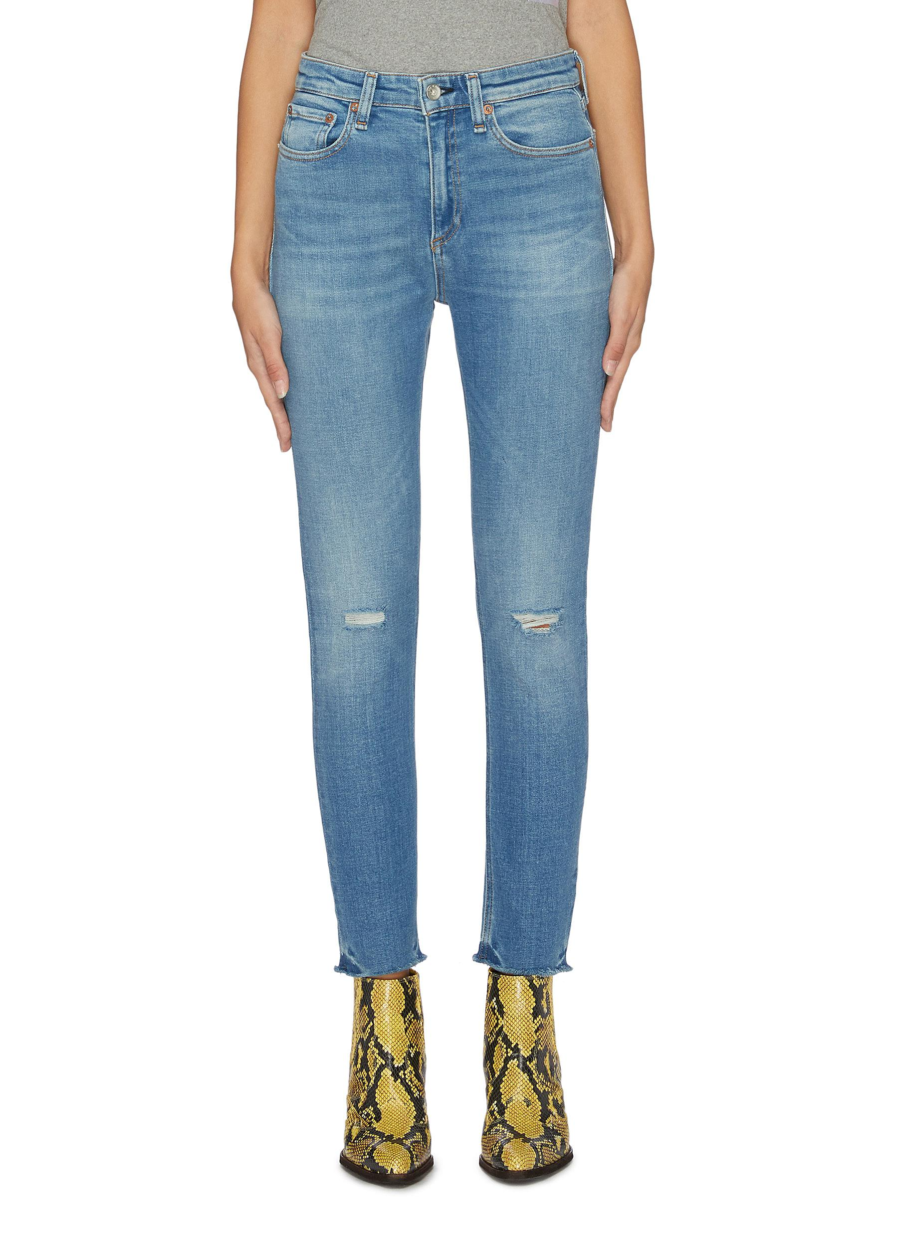 Nina ripped knee skinny jeans by Rag & Bone/Jean