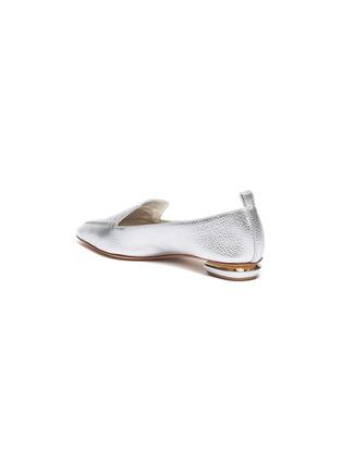 - NICHOLAS KIRKWOOD - 'Beya' metal heel leather skimmer loafers