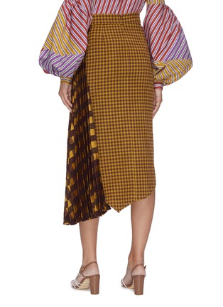 Back View - Click To Enlarge - SILVIA TCHERASSI - 'Dolly' mixed check plaid asymmetric skirt