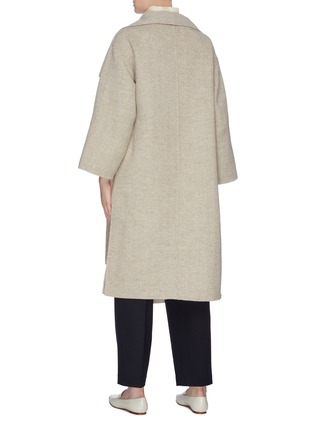 Back View - Click To Enlarge - MIJEONG PARK - Button side patch pocket melton coat