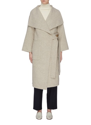 Main View - Click To Enlarge - MIJEONG PARK - Button side patch pocket melton coat