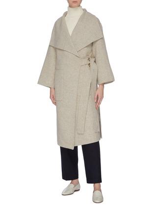 Figure View - Click To Enlarge - MIJEONG PARK - Button side patch pocket melton coat