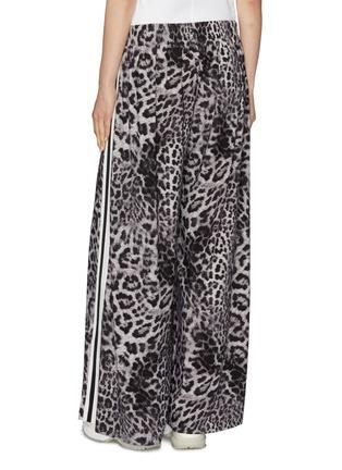 Back View - Click To Enlarge - NORMA KAMALI - 'Boyfriend Elephant' stripe outseam leopard print sweatpants