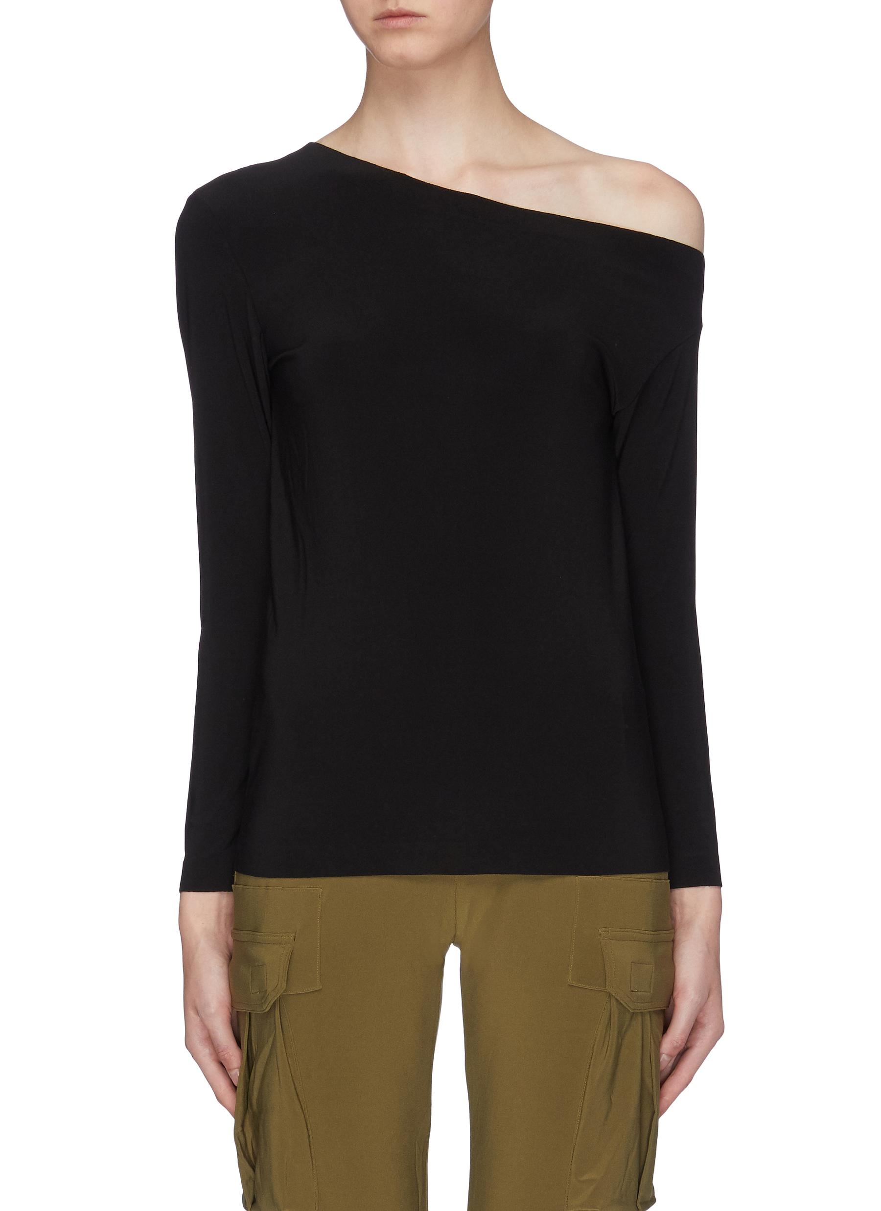 One shoulder top by Norma Kamali
