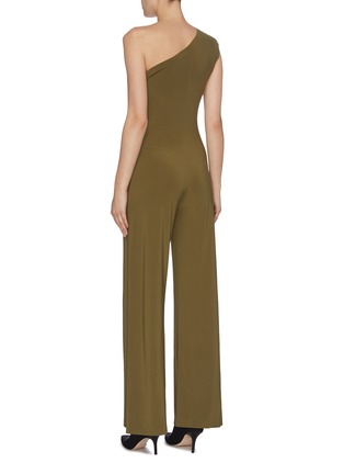 Back View - Click To Enlarge - NORMA KAMALI - One shoulder jumpsuit