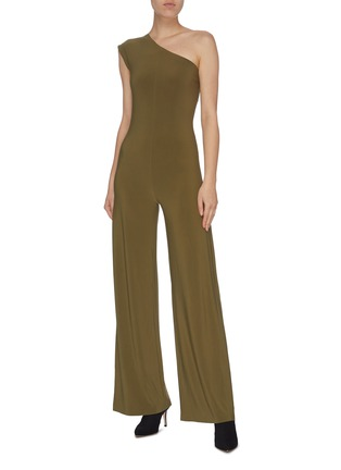 Figure View - Click To Enlarge - NORMA KAMALI - One shoulder jumpsuit