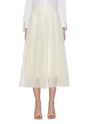 Main View - Click To Enlarge - ZIMMERMANN - 'Espionage Ballet' dot tulle flared skirt